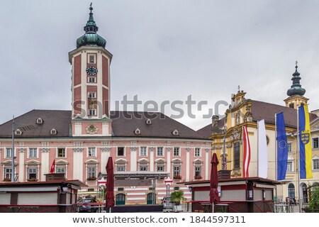 ратуша Австрия основной квадратный город небе Сток-фото © borisb17