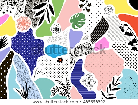 Abstrato moderno colorido estilo retro bandeira quadro Foto stock © Decorwithme