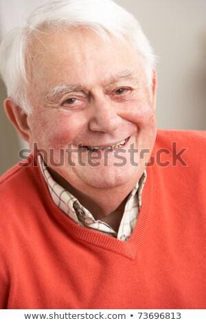 Kıdemli adam bakıyor kamera huzurevi Stok fotoğraf © wavebreak_media