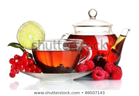 液果類 · 赤 · 葉 · 孤立した · 白 · フルーツ - ストックフォト © agfoto