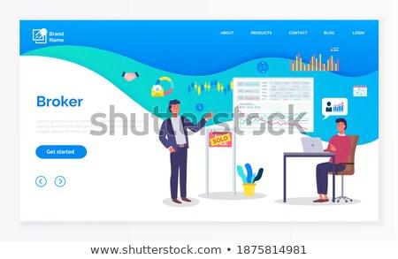 Financiar tecnologia corretor profissional vetor gerente Foto stock © robuart