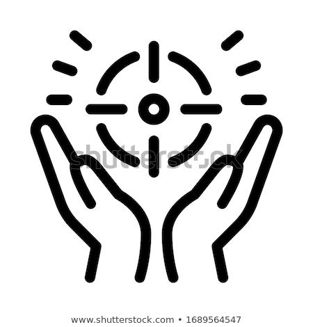 Propósito ícone vetor ilustração assinar Foto stock © pikepicture
