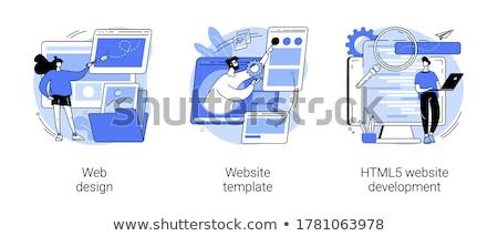 Website responsive design development vector concept metaphor. Stock photo © RAStudio