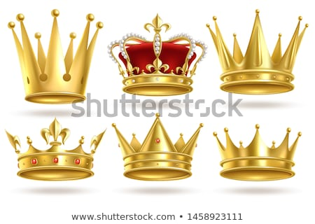 Royal Gold Crown with Gemstones and Red Velvet Stock photo © robuart