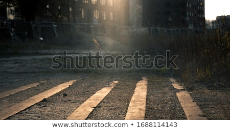 Low angle view of an empty deserted urban street Stock photo © Giulio_Fornasar
