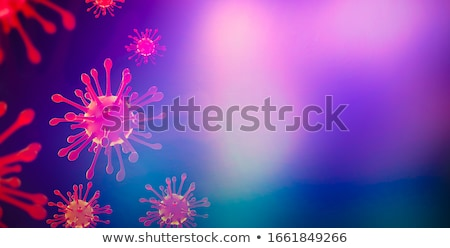 covid19 coronavirus pandemic background with virus cell Stock photo © SArts
