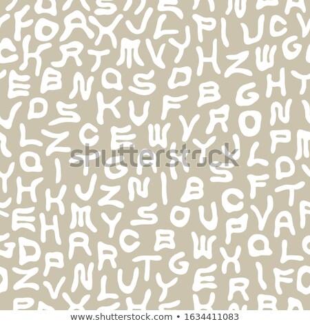 Vektor funky Alphabet Muster verzerrt Stock foto © ExpressVectors
