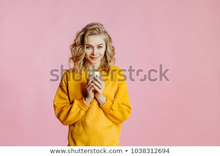 Duygusal çekici ince kız kadın Stok fotoğraf © fotoduki