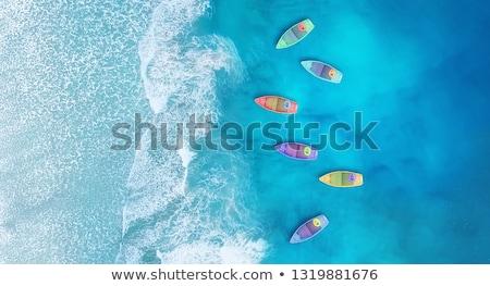 canoa · lago · montanha · esportes · verão · azul - foto stock © elenarts