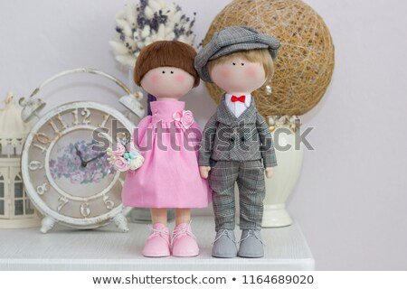 sweet couple with red flowers Stock photo © dolgachov