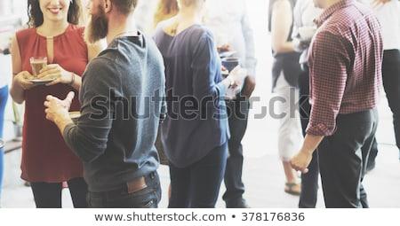 couple · potable · rose · vin · heureux - photo stock © photography33