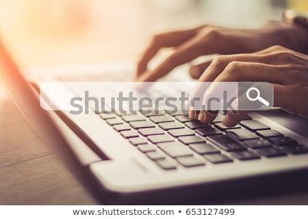 clavier · bleu · clé · métallique - photo stock © silent47