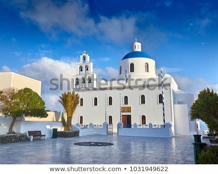 church of panagia of platsani oia santorini greece stock photo © elenarts