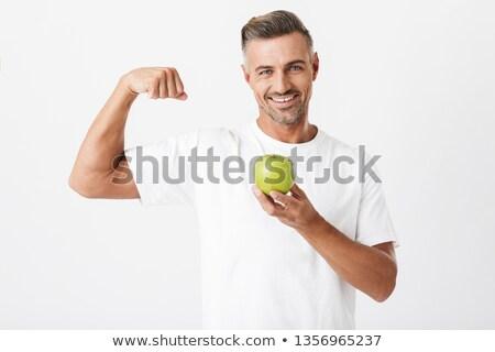 Homem bíceps verde primavera saúde Foto stock © vkraskouski
