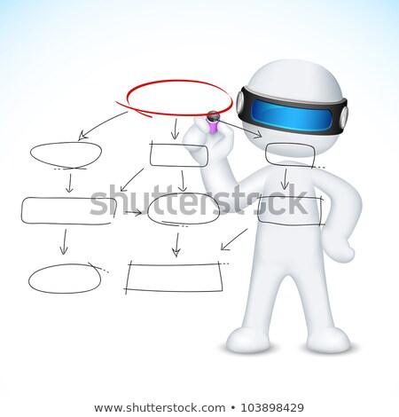 Writing 3d Man In Vector Stockfoto © Vectomart