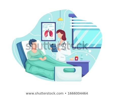 médecin · patient · médecine · blanche · malade · froid - photo stock © photography33