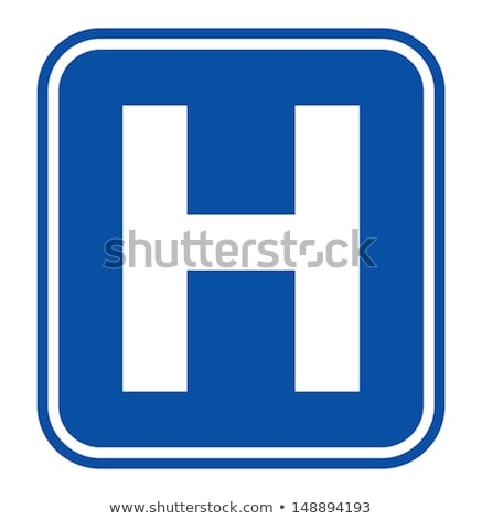 Ziekenhuis teken amerikaanse verkeersbord geïsoleerd witte Stockfoto © karenr