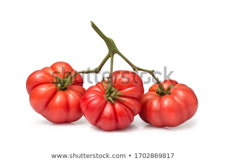 Taze olgun domates renkli rustik beyaz Stok fotoğraf © klsbear