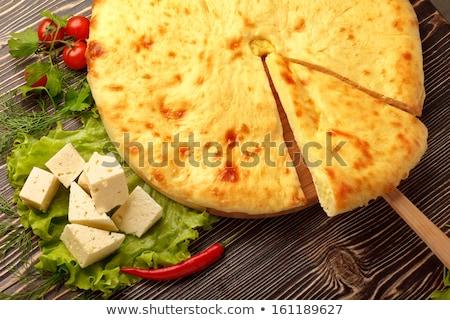 Fetasajt pite hagyományos csendélet étel sajt Stock fotó © Fisher