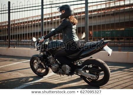 Female motorcycle rider Stock photo © photography33