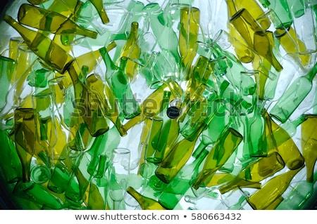 Stok fotoğraf: Geri · dönüşüm · cam · şişeler · gülümseme · doğa · yeşil