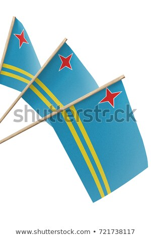 miniatura · bandeira · isolado · reunião · azul - foto stock © bosphorus