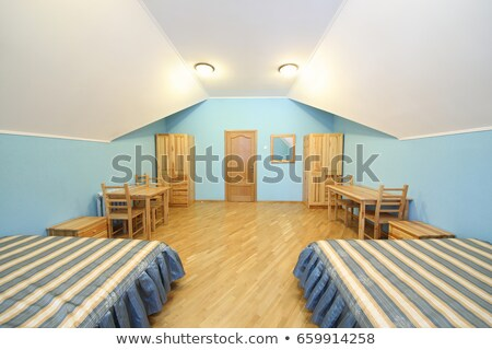 Wide Angle Bedroom Stock photo © eldadcarin