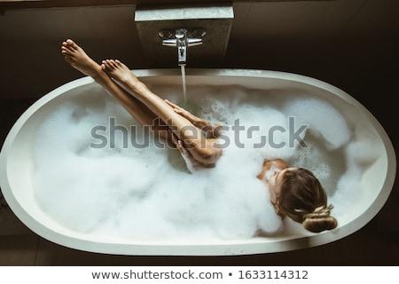 luxury bath with foam Stock photo © kyolshin