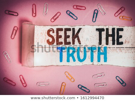 True meaning discovered. Stock photo © kyolshin