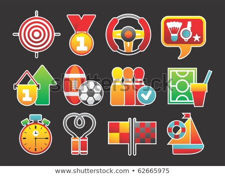 Red life preserver with stopwatch Stock photo © gladiolus