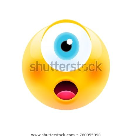 Сток-фото: глаза · технологий · синий · связи · игрушку · белый