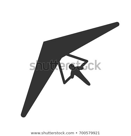 Vector icon hang glider Stock photo © zzve