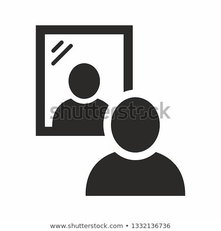 Icône miroir objet Photo stock © zzve