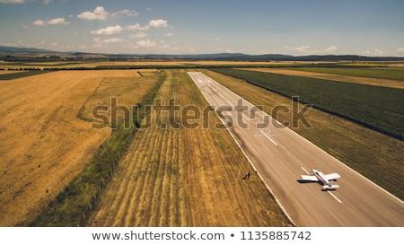 small plane taking off stock photo © ruslanomega