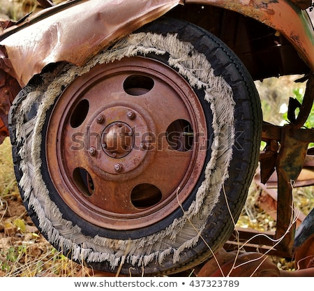 Worn Bias Ply Tire Stock photo © wolterk