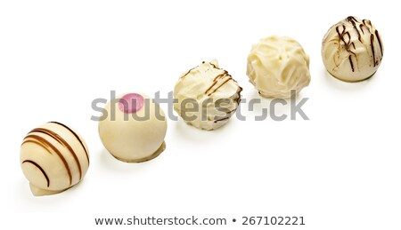 deliscious white chocolate truffle pralines isolated Stock photo © juniart
