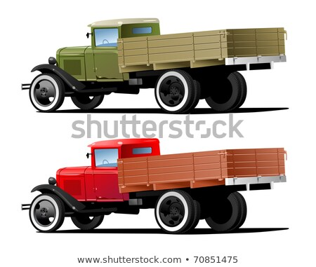 Vector retro lorry isolated Stock photo © mechanik