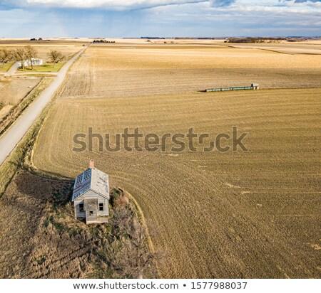 Ház préri retro illusztráció retró stílus Stock fotó © patrimonio