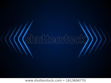 Brilhante azul colorido seta vetor negócio Foto stock © bharat