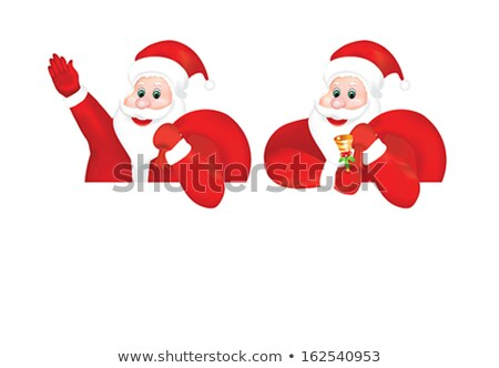 abstract detailed multiple santa background Stock photo © pathakdesigner
