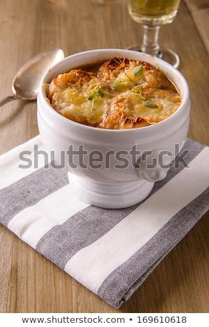 суп · хрустящий · чеснока · тоста · домашний - Сток-фото © phila54