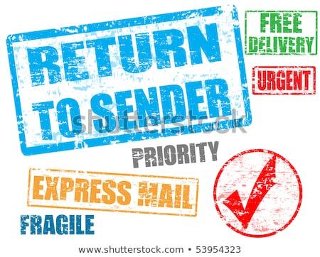 Visszatérés feladó bélyeg grunge pecsét szöveg Stock fotó © carmen2011