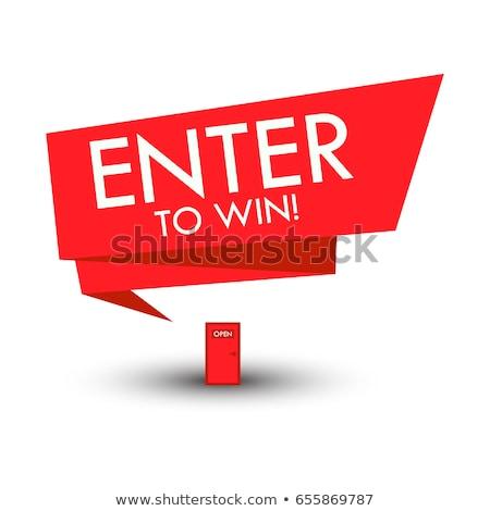 Ganador rojo aislado blanco Foto stock © tashatuvango