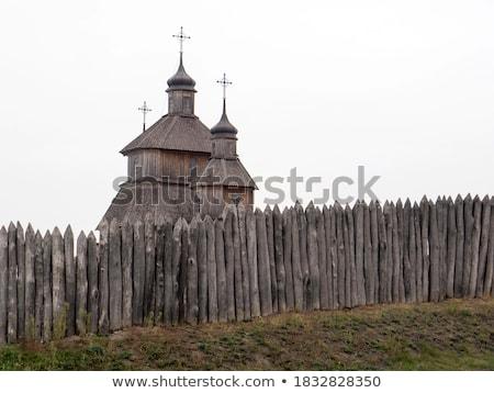 Anciens forteresse ciel bleu église château Photo stock © cosma
