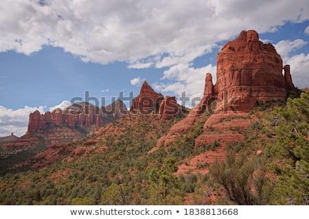 umber mountains and blue sky Stock photo © fotoduki