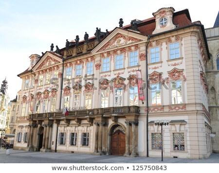 Galéria Prága Csehország palota 2014 ház Stock fotó © artush