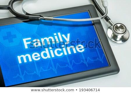 tableta · diagnóstico · dolor · de · espalda · pantalla · ordenador · médico - foto stock © zerbor