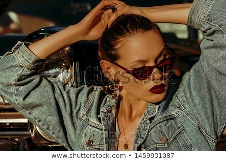 Lady with sunglasses Stock photo © Novic