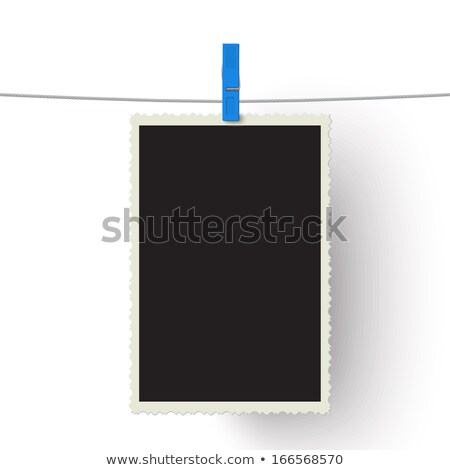 Fotografia papel photo frame anexada corda Foto stock © stevanovicigor