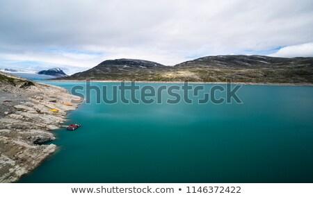 Kicsi sziget tiszta víz gleccser tó űr Stock fotó © jaycriss